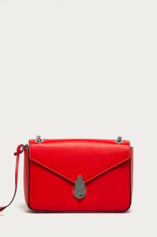 Calvin Klein - Kožená kabelka dámské červená ONE SIZE