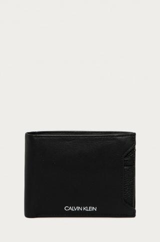Calvin Klein - Kožená peňaženka pánské čierna ONE SIZE