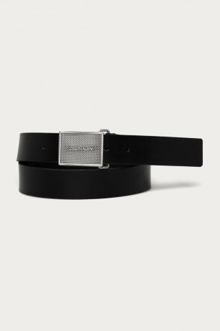 Calvin Klein - Kožený opasok pánské čierna 110