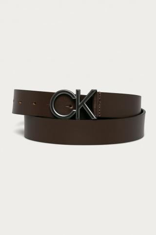 Calvin Klein - Kožený opasok pánské hnedá 110