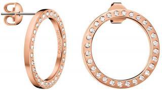 Calvin Klein Kruhové náušnice s kryštálmi Hook KJ06PE140100 dámské