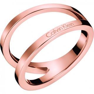 Calvin Klein Luxusné bronzový prsteň Outline KJ6VPR1001 52 mm dámské