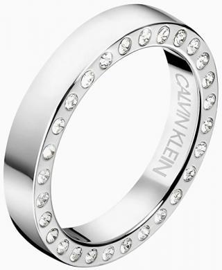 Calvin Klein Luxusné oceľový prsteň s kryštálmi Hook KJ06MR0403 50 mm dámské