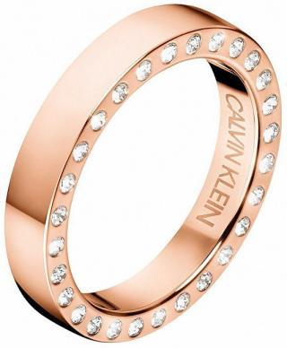 Calvin Klein Luxusné oceľový prsteň s kryštálmi Hook KJ06PR1402 50 mm dámské