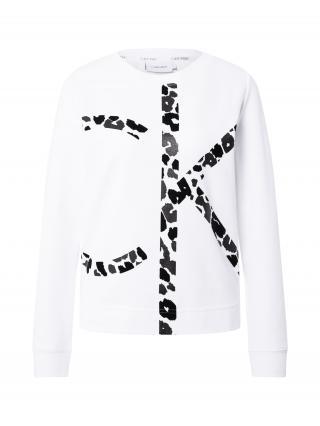 Calvin Klein Mikina  biela / čierna dámské XXS