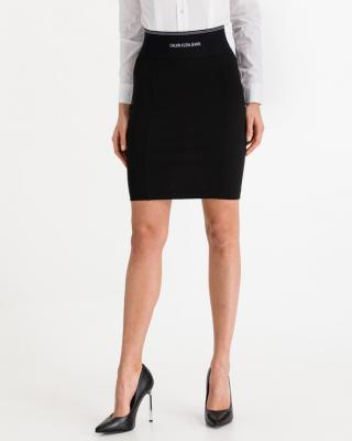Calvin Klein Milano Bodycon Elastic Sukňa Čierna dámské L