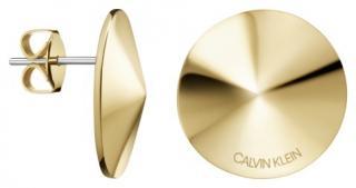 Calvin Klein Pozlátené oceľové náušnice Spinner KJBAJE100200 dámské