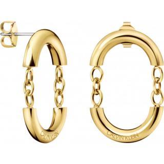 Calvin Klein Pozlátené štýlové náušnice Dangle KJ9ZJE100100 dámské