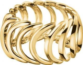 Calvin Klein Pozlátený oceľový prsteň Body KJ2WJR1001 54 mm dámské