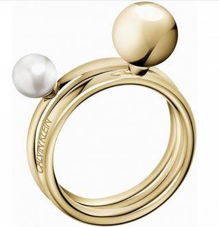 Calvin Klein Pozlátený prsteň Bubbly KJ9RJR1403 57 mm dámské