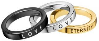 Calvin Klein Sada prsteňov 3v1 Hook KJ06JR3901 52 mm dámské