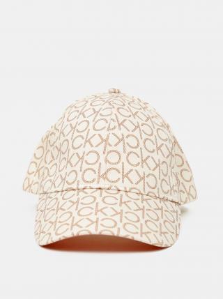 Calvin Klein smotanové/krémové šiltovka BB Cap s logom dámské krémová ONE SIZE
