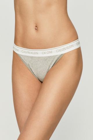 Calvin Klein Underwear - Brazílske nohavičky CK One dámské sivá XS