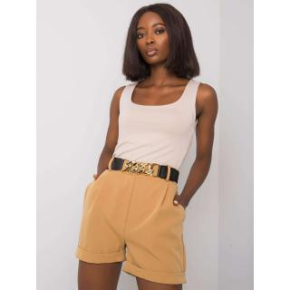 Camel shorts with a decorative belt Other M