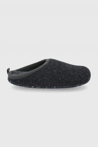 Camper - Vlnené papuče Wabi pánské sivá 39
