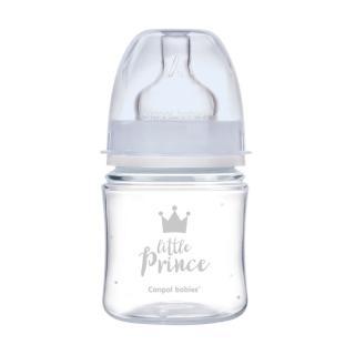 CANPOL BABIES Fľaša so širokým hrdlom Royal Baby 120 ml modrá