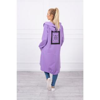 Cape with a hood oversize purple dámské Neurčeno One size