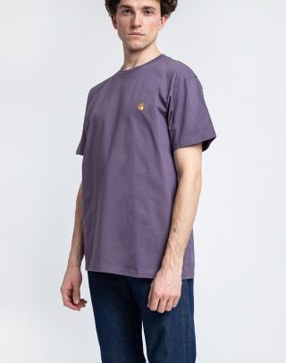 Carhartt WIP S/S Chase T-Shirt Provence / Gold L pánské Fialová L