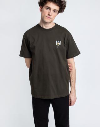 Carhartt WIP S/S Teef T-Shirt Cypress L pánské Zelená L