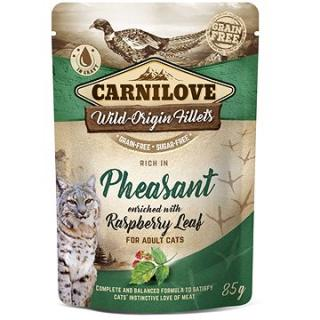 Carnilove Cat Pouch Rich in Pheasant Enriched with Raspberry Leaves 85 g