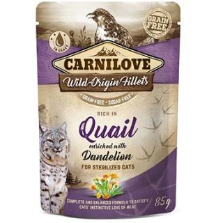 Carnilove Cat Pouch Rich in Quail Enriched with Dandelion for sterilized 85 g