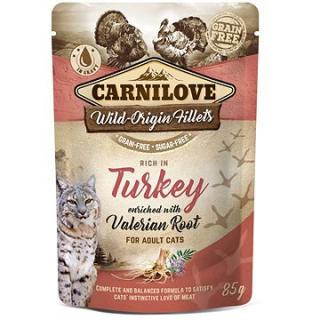 Carnilove Cat Pouch Rich in Turkey Enriched with Valerian 85 g