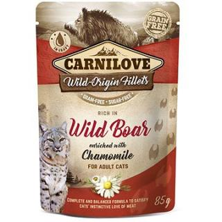 Carnilove Cat Pouch Rich in Wild Boar Enriched with Chamomile 85 g