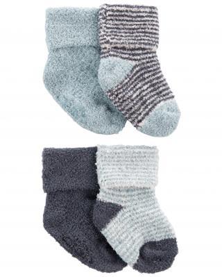 CARTERS Ponožky Stripes Blue chlapec LBB 4ks NB