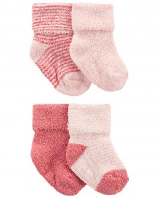 CARTERS Ponožky Stripes Pink dievča LBB 4ks NB