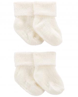 CARTERS Ponožky White neutrál LBB 4ks 12-24m