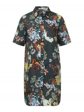 CECIL Košeľové šaty  tmavozelená / zmiešané farby dámské 40