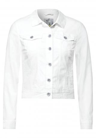 CECIL Prechodná bunda  biely denim dámské L