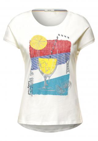 CECIL Tričko  biela / žltá / červená / modrá / fialová dámské XL
