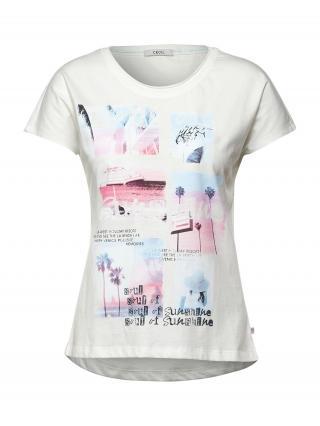 CECIL Tričko  biela / zmiešané farby dámské L