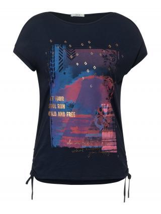 CECIL Tričko  námornícka modrá / zmiešané farby dámské XL
