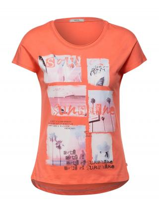 CECIL Tričko  oranžová / čierna / ružová dámské L