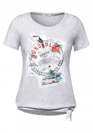 CECIL Tričko  sivá / modrá / biela / čierna / červená dámské XS