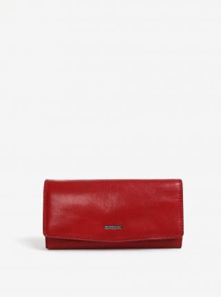 Červená dámska veľká kožená peňaženka KARA dámské
