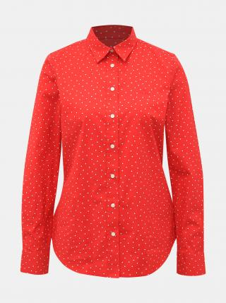 Červená dámska vzorovaná košeľa GANT dámské S