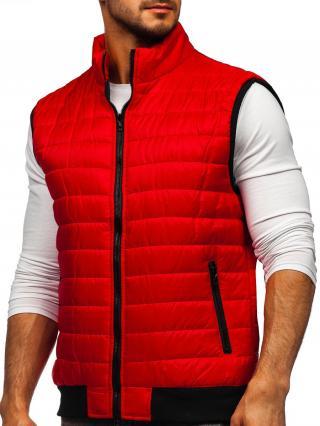 Červená pánska prešívaná vesta Bolf MY77 M