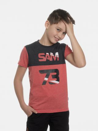 Červené chlapčenské tričko s potiskem SAM 73 červená 152