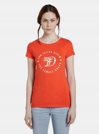 Červené dámske tričko s potlačou Tom Tailor Denim dámské červená M