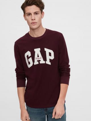 Červené pánske tričko GAP Logo pánské vínová L