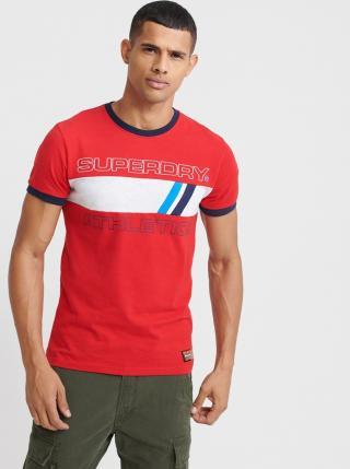 Červené pánske tričko s potlačou Superdry pánské červená M