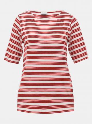 Červené pruhované tričko Jacqueline de Yong Camina dámské červená M