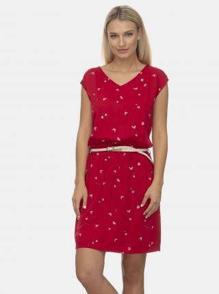 Červené vzorované šaty Ragwear - XS dámské červená XS