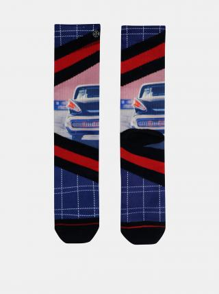 Červeno-modré pánske ponožky XPOOOS pánské modrá 43-46