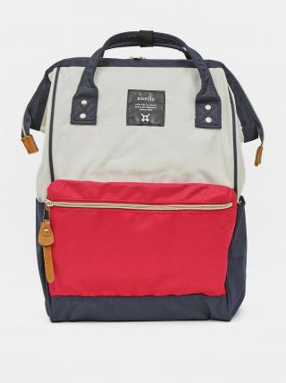 Červeno-modrý batoh Anello 18 l dámské modrá