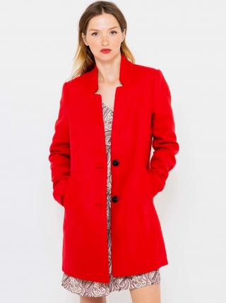 Červený kabát CAMAIEU dámské červená L
