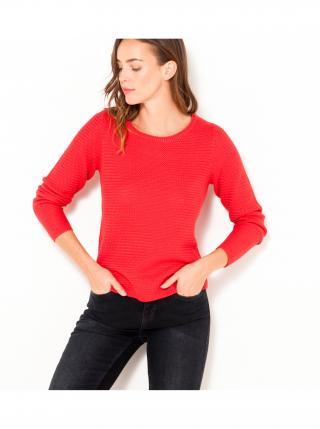 Červený rebrovaný sveter CAMAIEU dámské červená XL